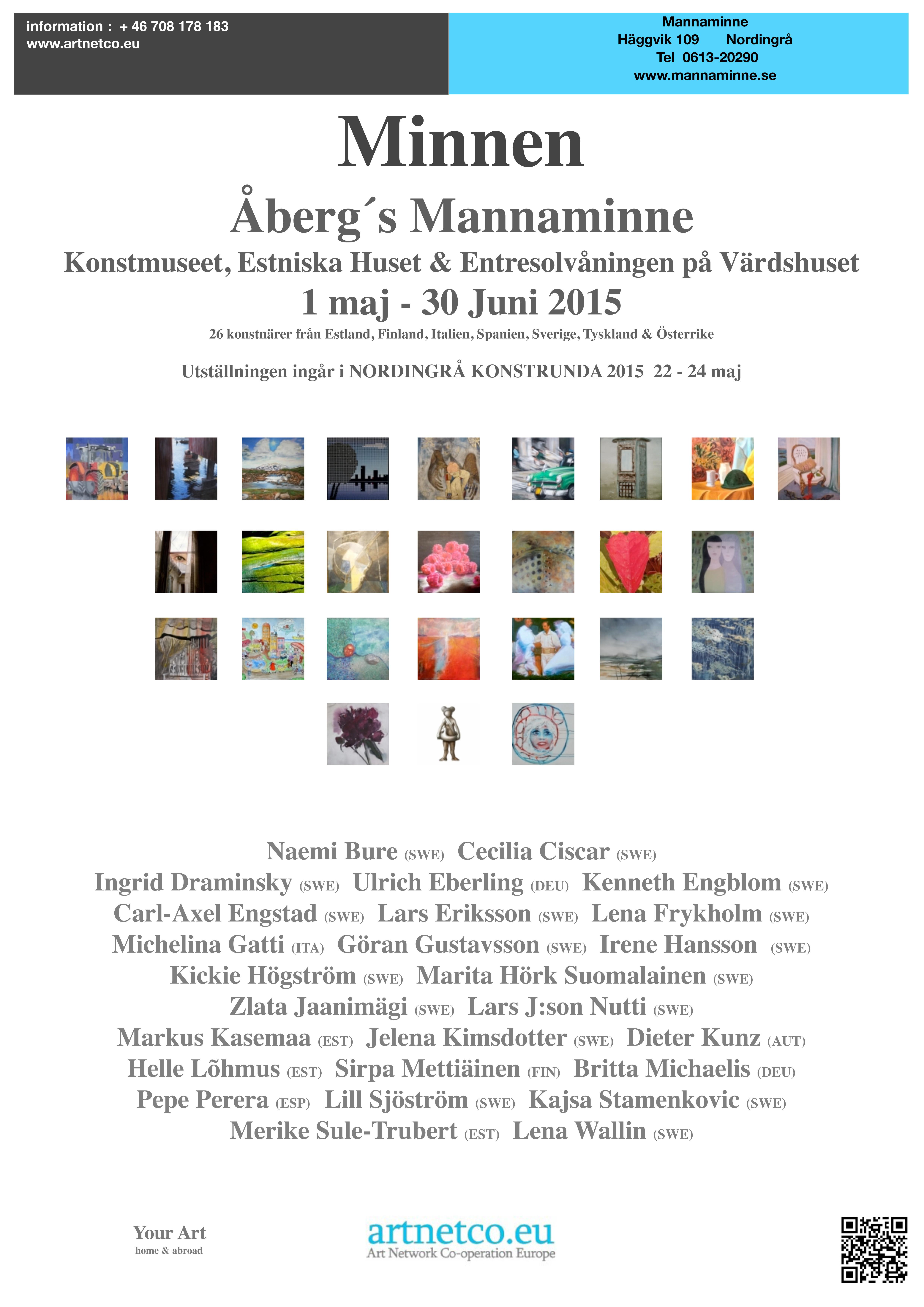 Affisch Mannaminne A2